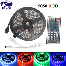 10M 5M RGB LED Strip 5050 set with IR Remote Controller DC 12V SMD 60leds/M 30leds/M waterproof 10M 600 LEDs RGB tape LED Light