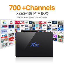 H.265 IPTV Octa-core Android IP TV Box Europe Arabic French S912 X92 1000M Sport Canal Plus French Channels Iptv Set Top Box