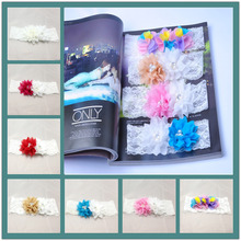 7 Colors Wedding Lace pearl flowers Garter Bridal Decoration Product Supplies