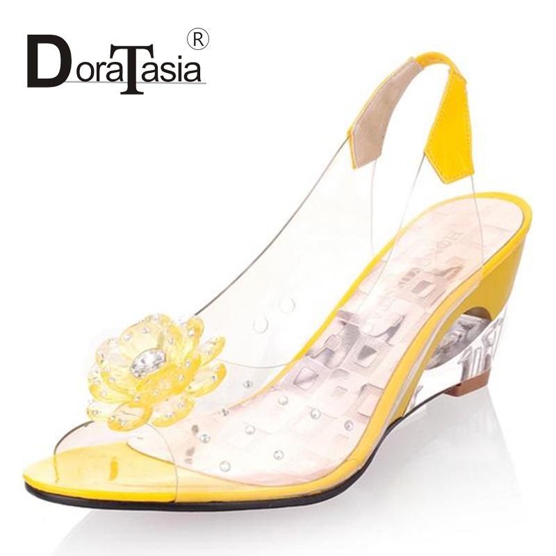 Fashion Womens New Desing Summer Sandals  Novelty Hollow Out Back Strap Wedges Summer Sandals For Women Casual Dress<br><br>Aliexpress
