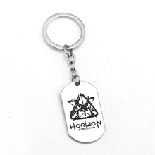 Buy Horizon Zero Dawn Keychain Silver Dog Tag Key Ring Holder Metal Fashion Car Bag Chaveiro Key Chain Pendant Game Jewelry for $1.68 in AliExpress store