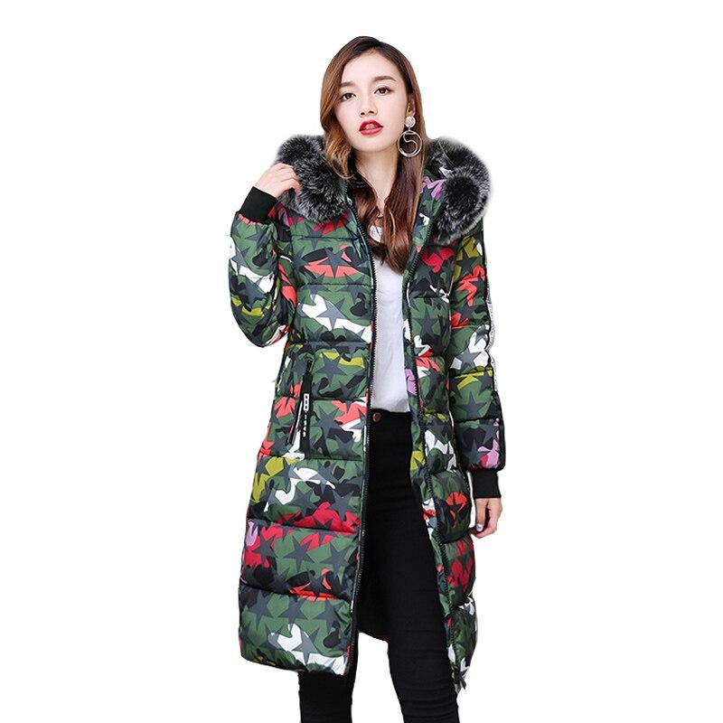 New 2017 Fashion Thick Winter Warm Coat Female Winter Jacket Women Fur Collar Wadded Women Hooded Coat Parka Long Outerwear HotÎäåæäà è àêñåññóàðû<br><br>