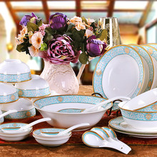 28pcs/lot ceramic dinnerware set bone china dishes plate set housewarming gifts married tableware wedding kitchenwares home gift