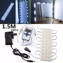5630 SMD 150cm 10pcs 30 LED Module Light Dimmer Illuminated for Bathroom Make Up Cosmetic Mirror DV12V 7W Waterproof IP65 220LM