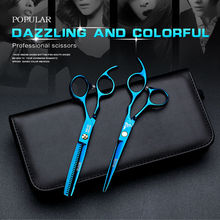 6 inch Cutting Thinning Styling Tool Hair Scissors Stainless Steel Salon Hairdressing Shears Professional barber Scissors