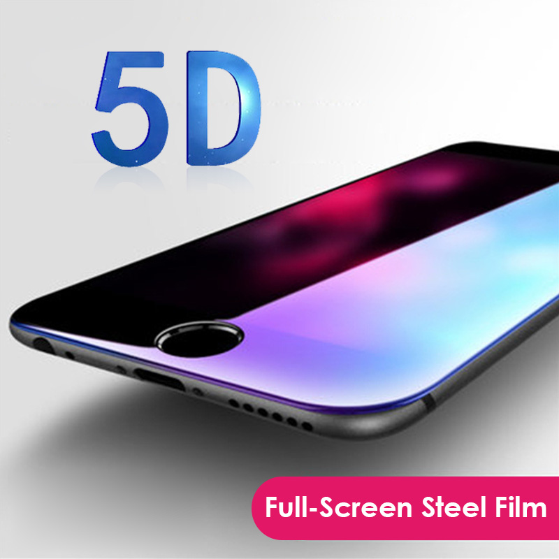"Nenuka 5D (3nd Gen 3D 2nd Gen 4D) Full Screen Cover Tempered Glass iPhone 6 6S 7 8 Plus Screen Protector Film 4.7"" 5.5''"