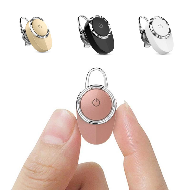 CANIDA Mini Bluetooth Headset Stereo Wireless Bluetooth Earphones Headphone with Microphone for iphone Samsung Xiaomi phone<br><br>Aliexpress