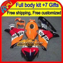 7gifts For HONDA CBR 1000RR 1000 RR 08 09 10 11 40HM109 Repsol CBR1000 RR 08-11 CBR1000RR 2008 2009 2010 2011 Fairing Red black