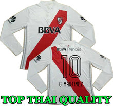 17 18 RIVER PLATE Home jersey soccer Long sleeves TEO D,ALESSANDRO BALANTA CAVENAGHI VANGIONI TOP QUALITY AWAY Football shirts(China)