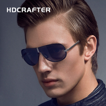 HDCRAFTER 2017 Brand Rimless Fashion Cool Sunglasses Polarized 100% UV400 protection Oculos de sol masculino Outdoor Eyewear(China)