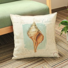 Marines Aquatics Pillows Home Decor Conch Star fish lihghthouse Vintage Cushion Covers Living Room Sofa Throw Pillows Case 45*45