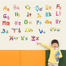 Big Cartoon Alphabet Letters Wall Sticker For Kids Bedroom Nursery home Decor art Wall Declas