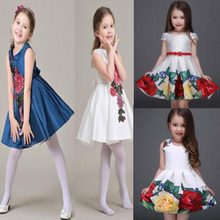 2017 Girl Dress Girls Summer High-grade Wedding Dresses Children Embroidered Party Dresses Dress for Girl Kids Clothes