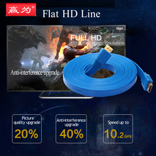 HDMI Cable Video Game Gold Plated Male Splitter 1.4 Version 1080P 3D Cable HD Flat Data Core Transmission Lossless HDMI Devices