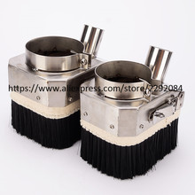 65MM 80MM stainless steel materials cnc dust cover collector cnc machine accessories for 0.8KW/1.5KW/2.2KW spindle motor