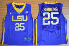 Nike Youth LSU Tigers Ben Simmons 25 College Ice Hockey Jerseys - Purple Size S,M,L,XL(China)
