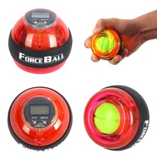 Mulitcolor Gyroscope Power Ball Gyro PowerBall Wrist Arm Exercise Strengthener LED Force Ball with Speed Meter Counter