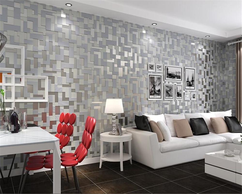 Modern Simple 3D Stereo Mosaic Reliefs Wallpaper Bedroom Living Room TV Background Wallpaper roll papel de parede Beibehang<br>
