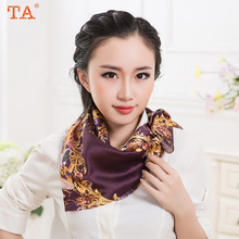 TA 2017 scarves South Korea East Gate new printing small square silk scarf manufacturers straight batch of multi-color scarves
