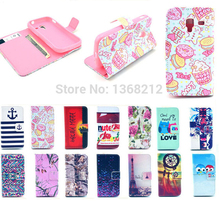 1PCS Hot Owls Tower Tiger Flowers Fashion Flip Wallet Stand Cover Cases For Samsung Galaxy Ace 2 i8160 Luxury PU Leather Case