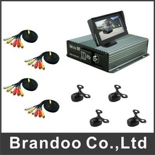 Inexpensive 4 channel CAR DVR kit, with 4.3inch monitor, DIY installation for Russia Market.(China)