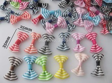 FZ0036 Printed Ribbon bowties without clip 100pcs randomly mixed baby clothes decoration accessory