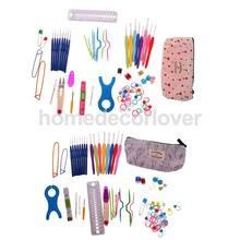 66pcs/sets Soft Grip Crochet Needles Hooks Case and complete Knitting Crafts Accessories