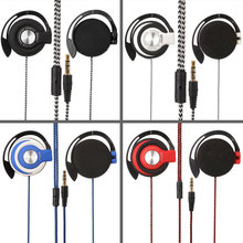 Sport Wired Headset Earphones Clip On Ear Sport Headphones EarHook Earphone For Mp3 Computer Mobile Phone