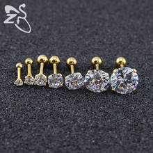 Small Crystal Earrings For Women Men Stainless Steel Gold Crystal Rhinestone Earrings Silver Earings For Girls Small Stud Earing