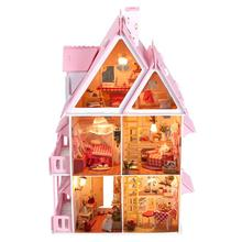 BOHS Diy Wooden Doll House Sun Alice Birthday Gift Presents Large Villa Manual Building Model Dioramas(China)
