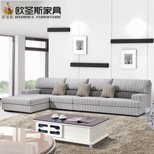 fair cheap low price 2017 modern living room furniture new design l shaped sectional suede velvet fabric corner sofa set X299-3