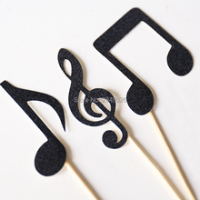 Music Note Cupcake Toppers, Music Theme Decorations