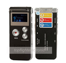 Portable LCD Screen 8GB Digital Voice Recorder Telephone Audio Recorder MP3 Player Dictaphone 609(China)