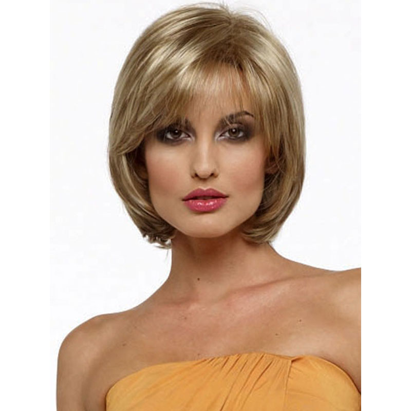 Heat Resistant Synthetic None Lace Short Wigs With Bangs Ombre Wigs For Black Women Synthetic Short Pixie Wigs Cheap Wigs Online<br><br>Aliexpress