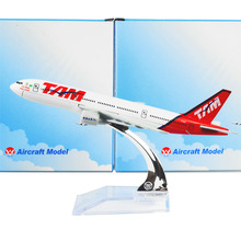 Model Plane Brazil TAM Airline Boeing 777 16cm Linhas Aereas Alloy Airplane Birthday Gift(China)