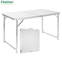 Finether Portable Aluminum Folding Outdoor Table Ultralight Height-Adjustable Table for Dining Picnic Camping BBQ Party Camping(China)