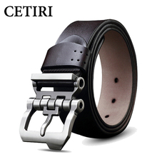 Pin Buckle Belt High Quality Mens Designer Belts Kovboy Kemeri Leather Belt Men Luxury Brand Cowboy Belt Black Brown(China)