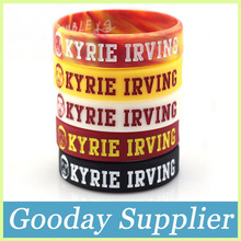 5colors basketball player KYRIE IRVING silicone bracelet Glow in the dark silicone wristband Debossed head sculpture rubber band