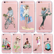 Girl Fashion Traveling Girls Design Phone Case For iPhone 7 7plus 8 8plus 6 6s 5 5s SE 6P 6SPlus Beautiful Bikini Girl Cover