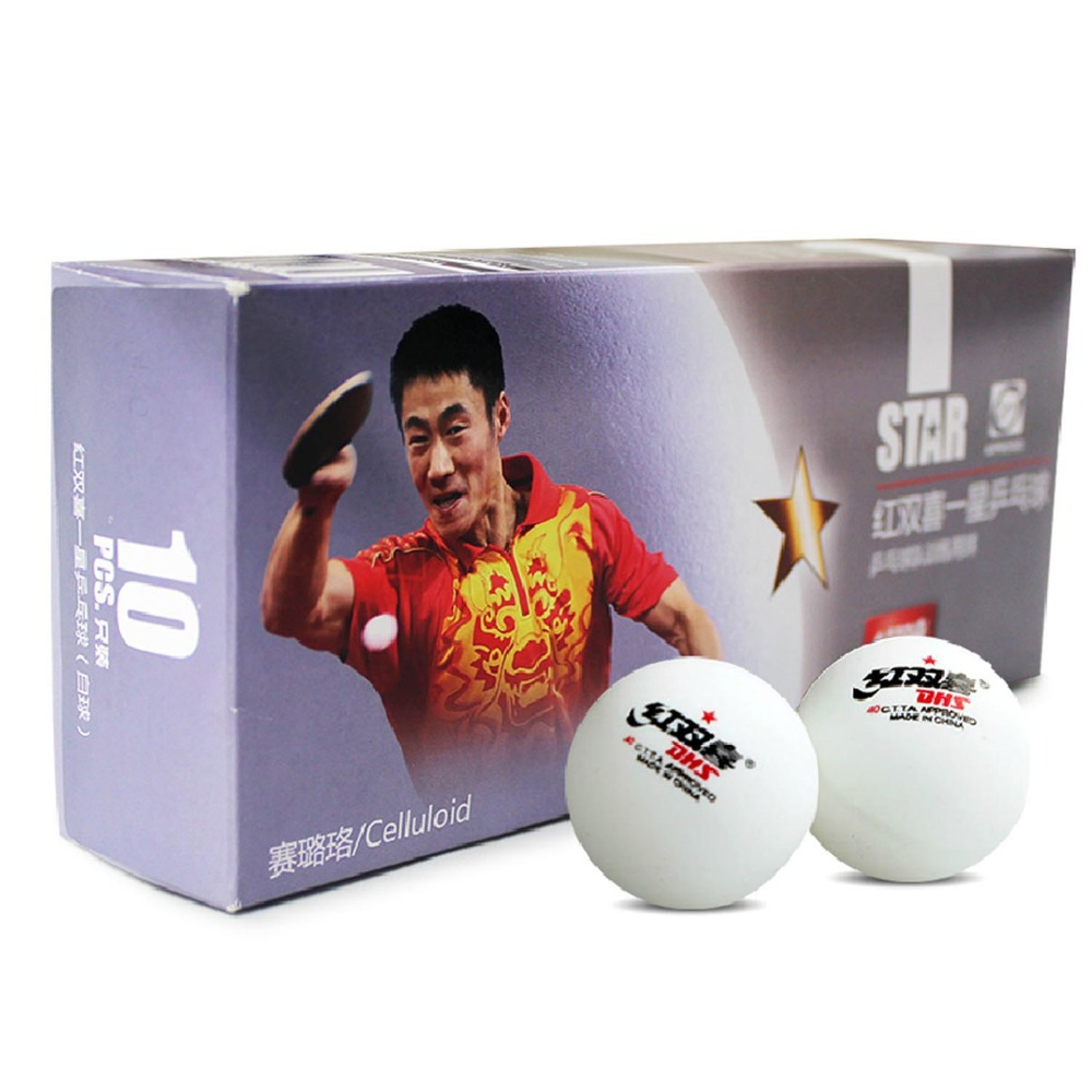 30x DHS 1-Star Celluloid White Table Tennis Pingpong Balls(China (Mainland))