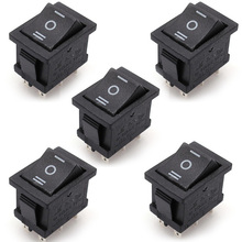 5 Pieces/Lot AC 6A/250V 10A/125V 5X 6Pin DPDT ON-OFF-ON Position Snap Boat Rocker Switches T1404 P0.4(China)