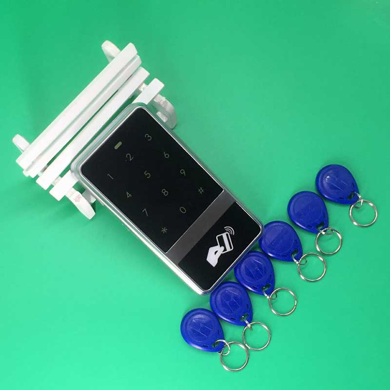 Standalone 8000 User Touch Keypad 125KHz RFID Reader Access Controller+10 RFID EM Key tags for Access Control System<br>