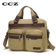 "CCZ Mens Canvas Bag Shoulder Bag Handbags Travel Bags For Men Jeans Crossbody Satchel 14"" Laptop Computer Bags Haversack HB8006"