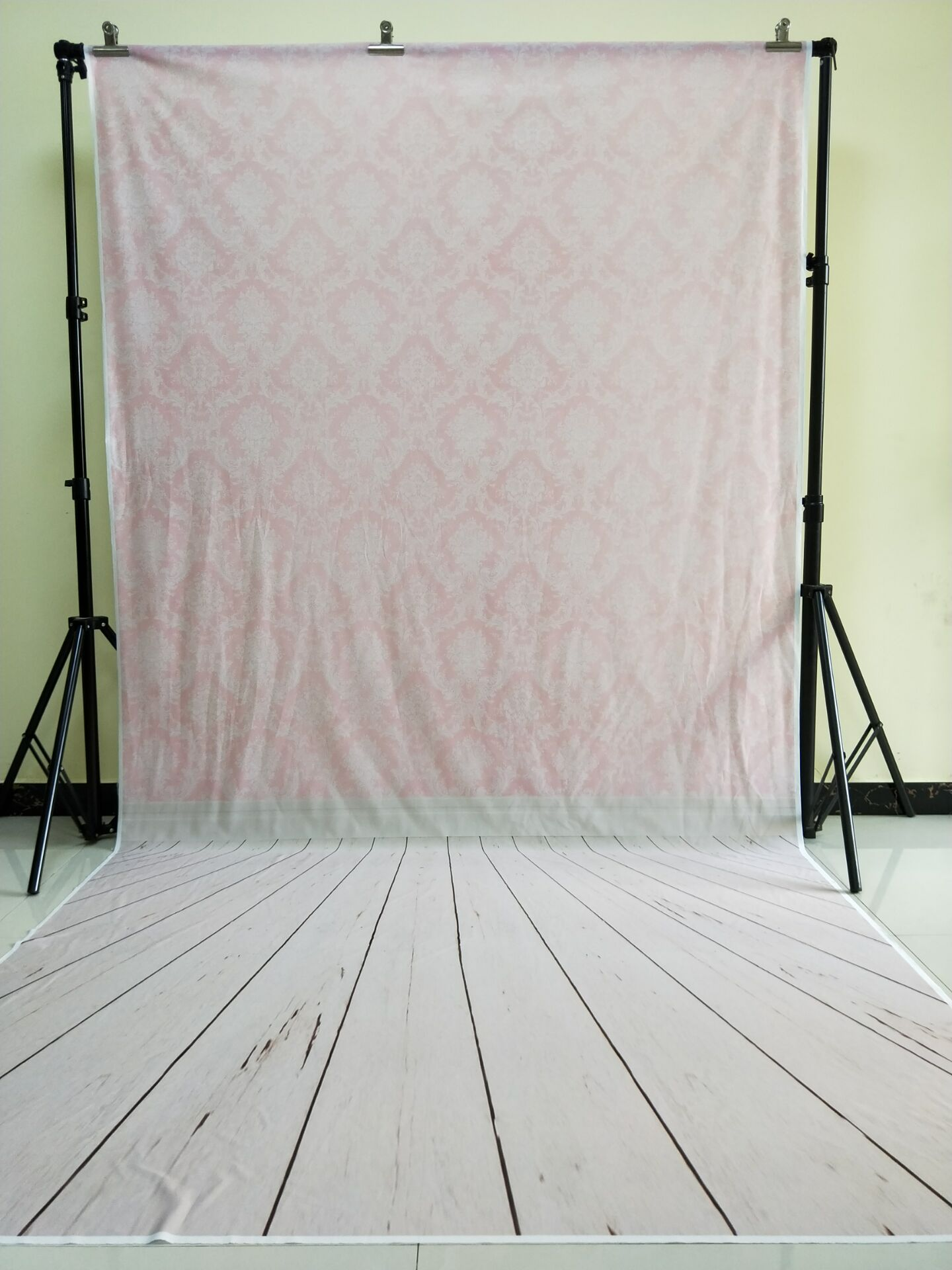 HUAYI 5x10ft Cotton Polyester Pink Damask Photography Backdrop Washable Photo Studios Baby Props Background KP-052<br>