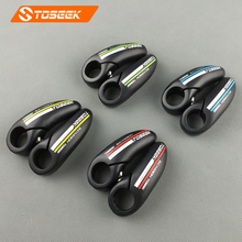 Toseek road mountain bike bar end full carbon fiber bicycle handlebar ends mtb ergonomic small auxiliary handlebar bicycle parts(China)