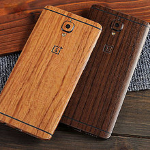 Full body wood skin for Oneplus 3 case Natural 3D Wood Grain Realistic touch Oxidized PVC Resin Material cover free shipping
