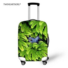 TWOHEARTSGIRL Elastic Luggage Covers Eyes with Green Grass Printed Travel Luggage Cover Waterproof Covers for 18-28inch Suitcase