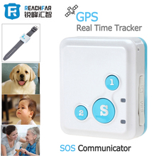 Portable RF-V16 Real-Time GPS Tracker Mini & SOS Communicator for Kids Child Elderly Personal GSM / GPRS / GPS Tracking Device(China)