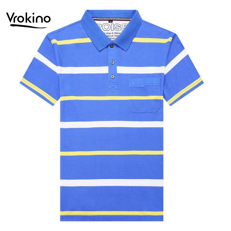 2019 Summer New Men's Business Casual Striped Short-sleeved Polo Shirt Fashion Men's High Quality Lapel Slim Asian Size M-4XL