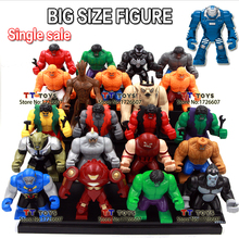 Single Sale Decool Styles Big Size Hulk Thing Venom Hulk buster Green Goblin Groot Building Block Figures Toy For Children(China)